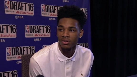2016 Draft Media Availability: Dejounte Murray