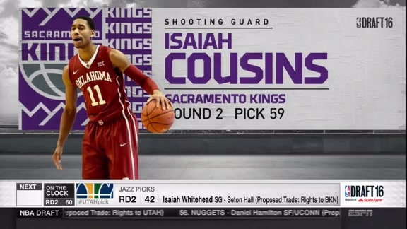 Kings Select Isaiah Cousins