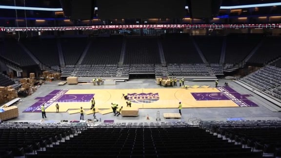 Golden 1 Center Court Installation Time Lapse