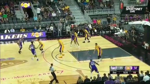 Kings vs Lakers Preseason Highlights
