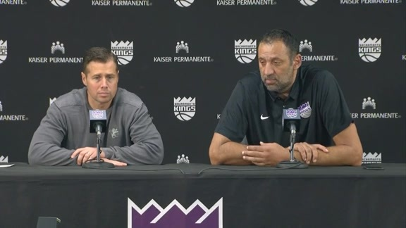 Vlade Divac & Coach Joerger Extension Press Conference