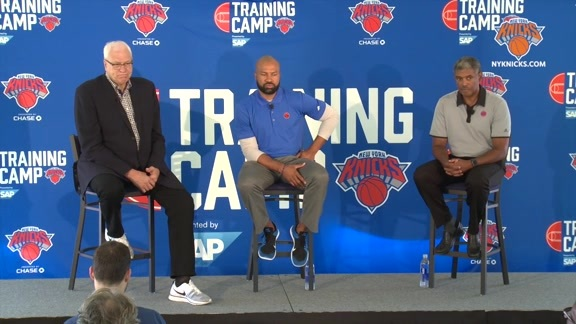 Phil Jackson, Derek Fisher, Steve Mills Press Conference Part I
