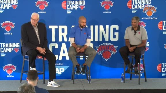 Phil Jackson, Derek Fisher, Steve Mills Press Conference Part 2