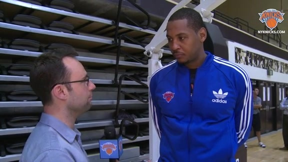 1-on-1 with Carmelo Anthony: Assessing The Knicks At Training Camp