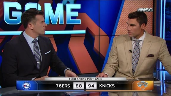 NYK vs PHI Postgame: MSG Network Highlights and Analysis
