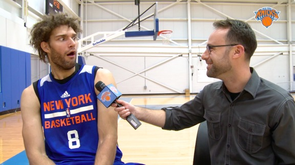 Great Scott! Robin Lopez Takes The Back To The Future Challenge and Doc's Impersonation