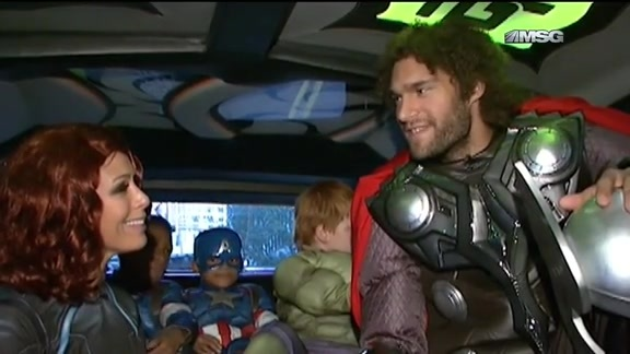 MSG Network Feature: Robin Lopez Dresses As Thor