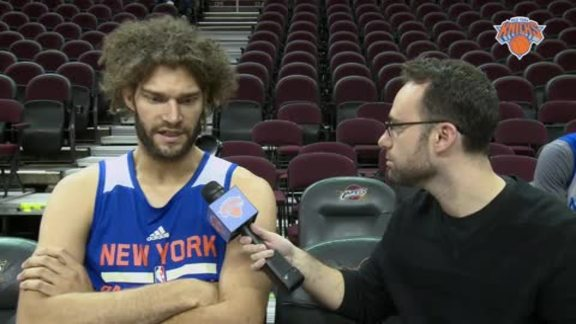 NYK @ CLE Shootaround: 1-on-1 with Robin Lopez