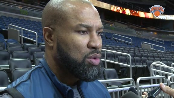 NYK @ ORL Shootaround: Fisher Believes Magic Will Present A Difficult Challenge