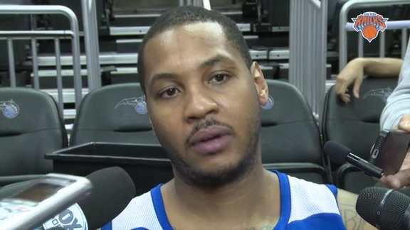 NYK @ ORL Shootaround: Melo Looking To Finish Road Trip Strong