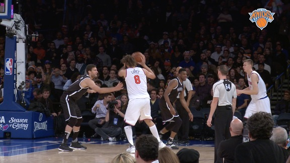 NYK vs BKN Postgame: Courtside View Highlights