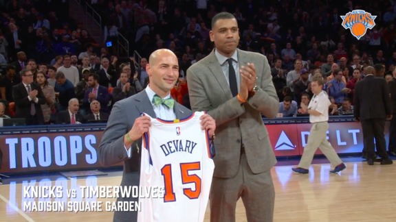 Delta Hoops For Troops: Knicks Honor Staff Sergeant Jim Devary