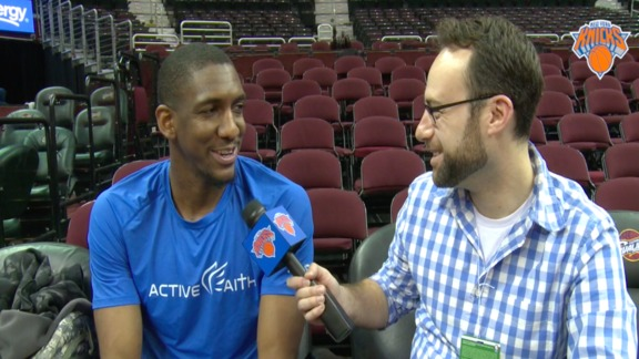 NYK @ CLE Shootaround: 1-on-1 with Langston Galloway