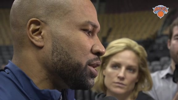 NYK @ TOR Shootaround: Fisher On Facing A Red-Hot Raptors Team