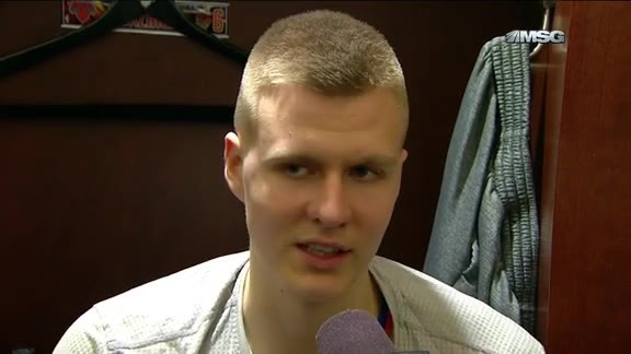 NYK vs PHX Postgame: Porzingis Discusses His Return To The Lineup