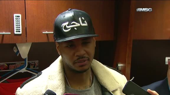 NYK vs PHX Postgame: Melo On Returning To Action On Friday Night