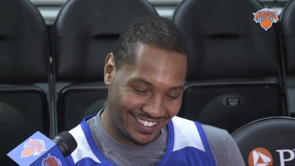 NYK @ DET Shootaround: Melo On His Mindset Before All-Star Break