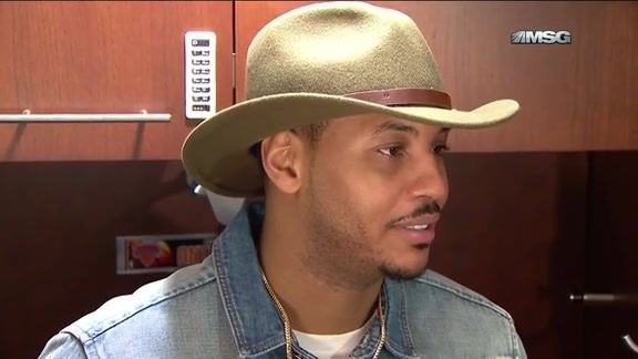 NYK vs DEN Postgame: Melo On His Health and 2nd Half Performance