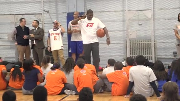 The Knicks and Liberty Team Up At NBA Fit Week