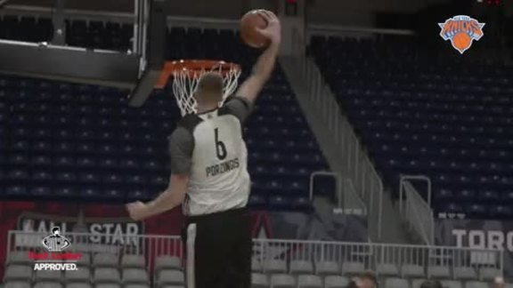 All-Access presented by Foot Locker: Rising Stars Practice with Porzingis