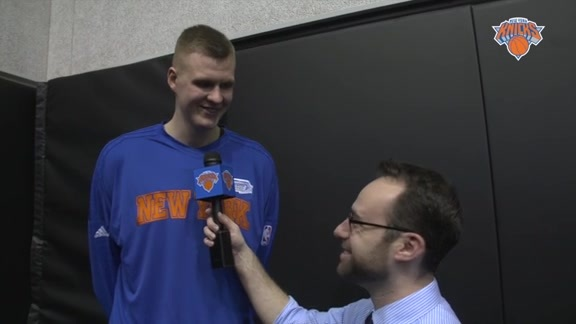 Rising Stars Postgame: 1-on-1 with Porzingis