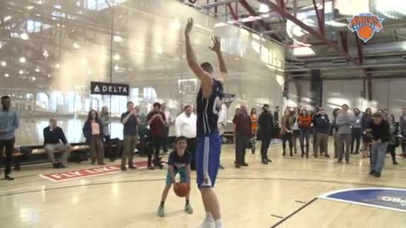 All-Access presented by Delta: Porzingis Shows The Kids How To Fly Like A Pro