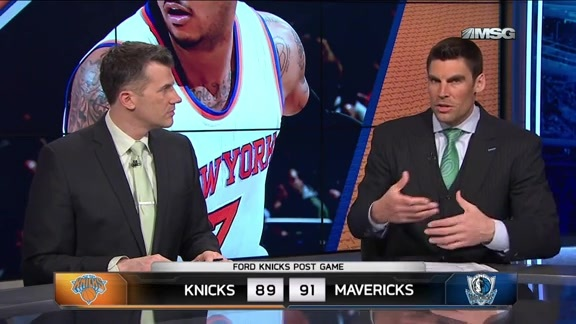 NYK @ DAL Postgame: MSG Network Highlights and Analysis