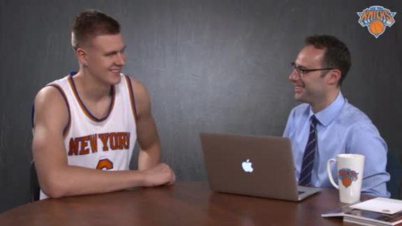 Speed Drills with Kristaps Porzingis: Ping-Pong Prowess, Celeb Dinner, Fist Bumps, and More!