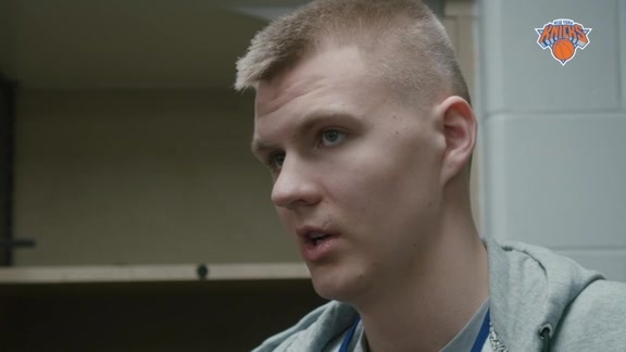 NYK @ IND Shootaround: Porzingis Reflects On Rookie Season