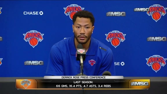 "Derrick Rose: ""I hope I will be able to play the rest of my career here."""