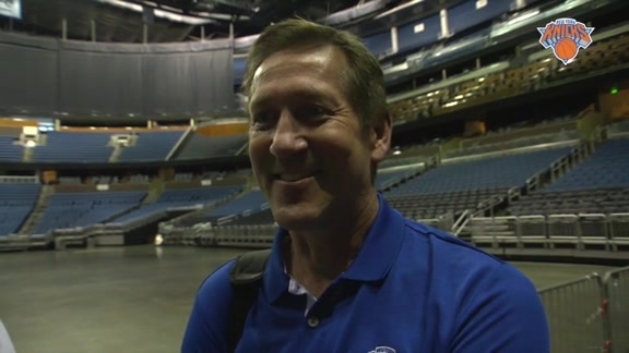 Jeff Hornacek Reacts to Watching Kristaps Porzingis' Workout in Orlando