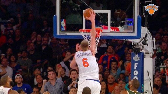 2015-16 Knicks Major Moment: Porzingis' Jaw-Dropping Putback Against The Bucks