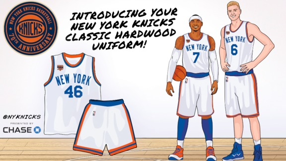 Exclusive First Look at Knicks Hardwood Classic Jersey