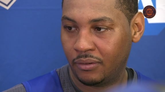 "TUES Knicks Camp: Carmelo Anthony: ""You can feel the energy from the first huddle that we had today."""