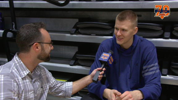 1-on-1 with Kristaps Porzingis: Playing with Rose, Expanding His Game, and More