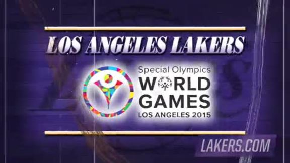 Lakers at the Special Olympics World Games