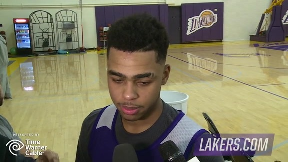 Practice: D'Angelo Russell