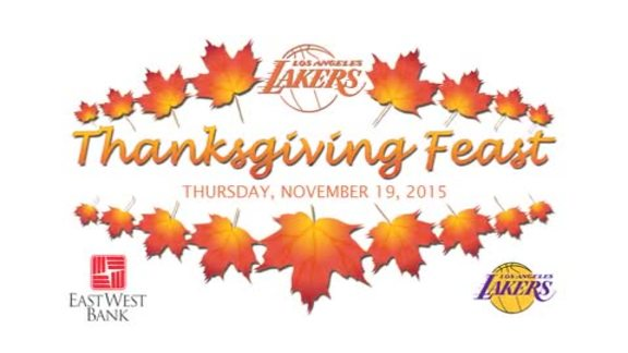 Lakers Thanksgiving Feast 2015