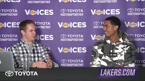 Lakers Voices: Jordan Clarkson (01/21/16)