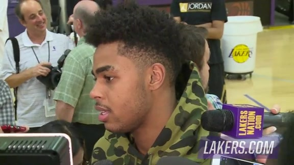 D'Angelo Russell Speaks to Media