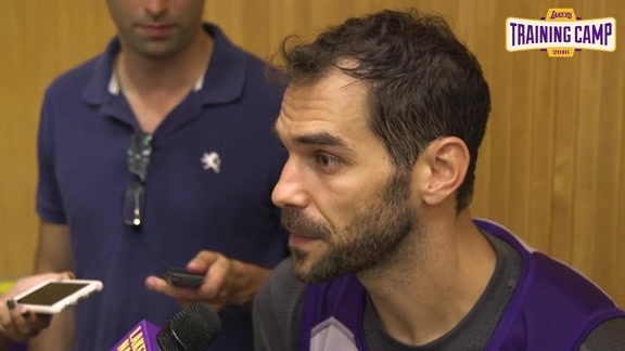 Training Camp: Jose Calderon (9/28/16)