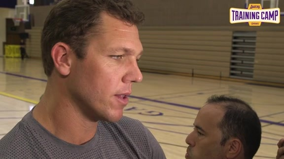 Training Camp: Luke Walton (9/30/16)