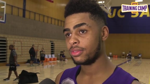Training Camp: D'Angelo Russell (9/30/16)