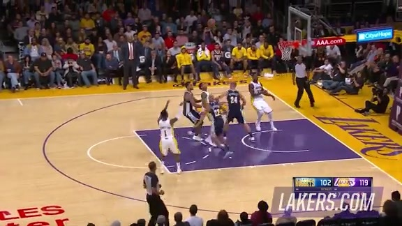 Lonzo Ball Fast-Breaks vs. Denver