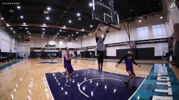 Lakers Practice in Charlotte