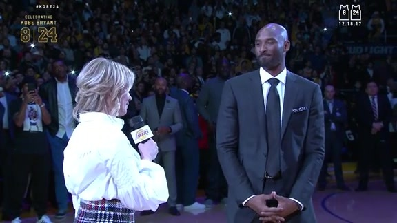 Kobe Bryant's Jersey Retirement Ceremony