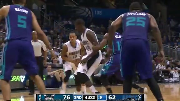 Andrew Nicholson's 3-Pointer vs. Hornets