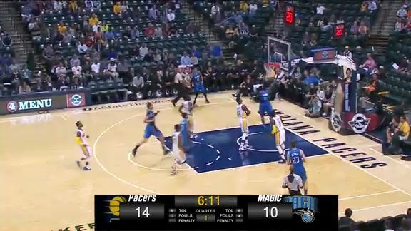 Hezonja's No-Look Pass to Oladipo vs Pacers