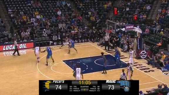 Oladipo's Transition 3 vs Pacers