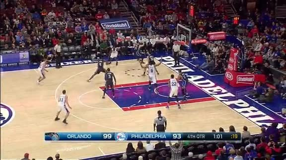 Tobias Harris with the Rejection vs Sixers | Orlando Magic